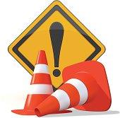 istock Road Warning Sign 166008541