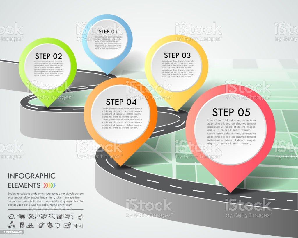 Ilustración de Opciones De Plantilla 5 De Carretera Forma ...