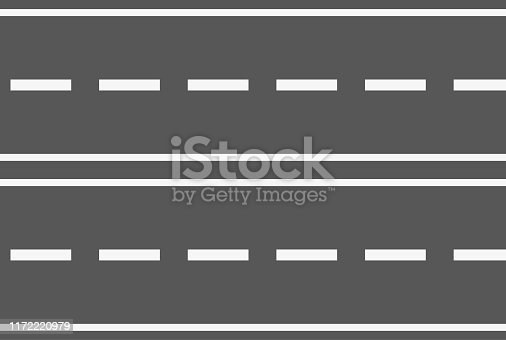 Highway with several lanes in different directions.