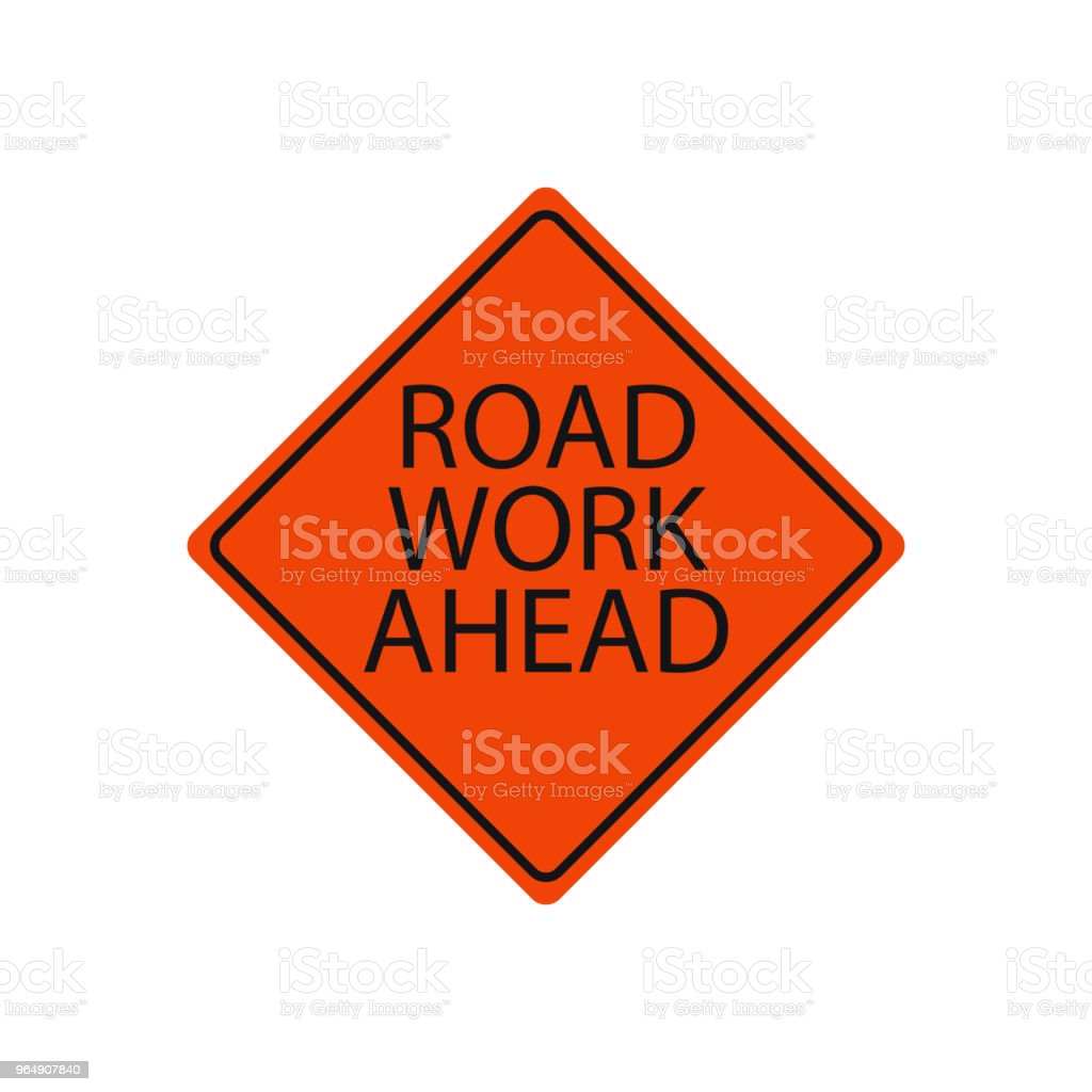 Road work ahead sign isolated on white royalty-free road work ahead sign isolated on white stock vector art & more images of advice