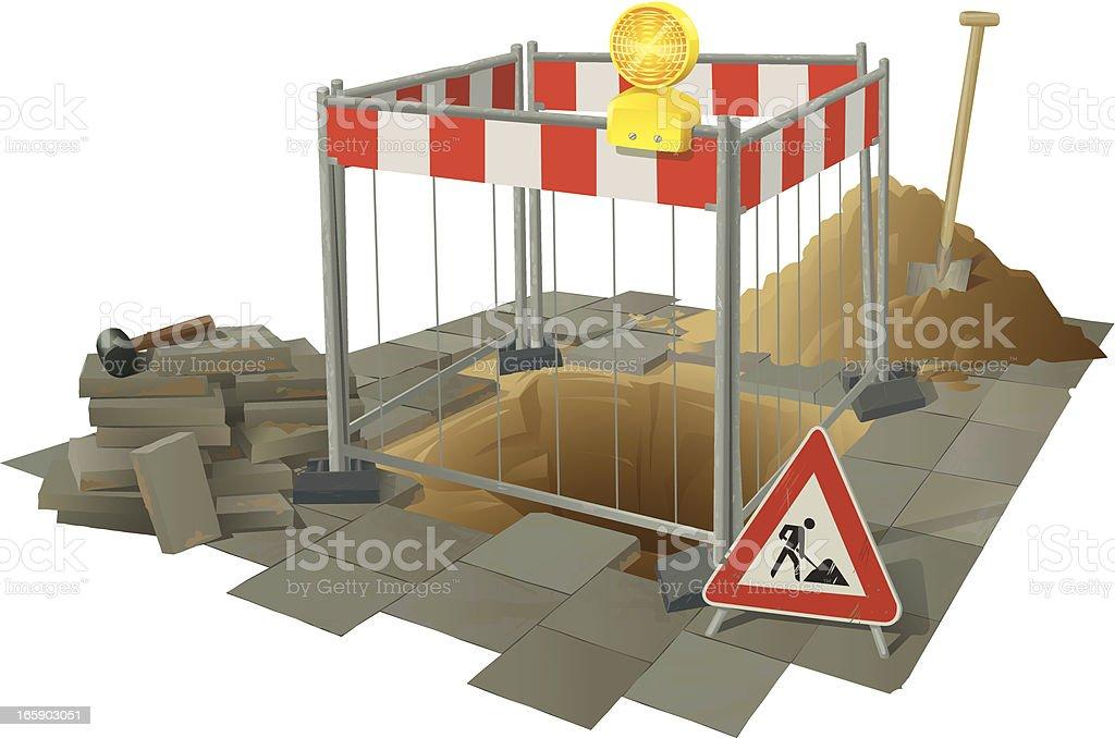 道路工事 - イラストレーションのロイヤリティフリーベクトルアート