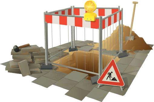 道路工事 - イラストレーションのベクターアート素材や画像を多数ご用意