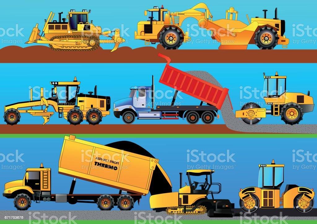 Road works. Detailed vector illustration vector art illustration