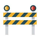 istock Roadblock Icon on Transparent Background 1284296970