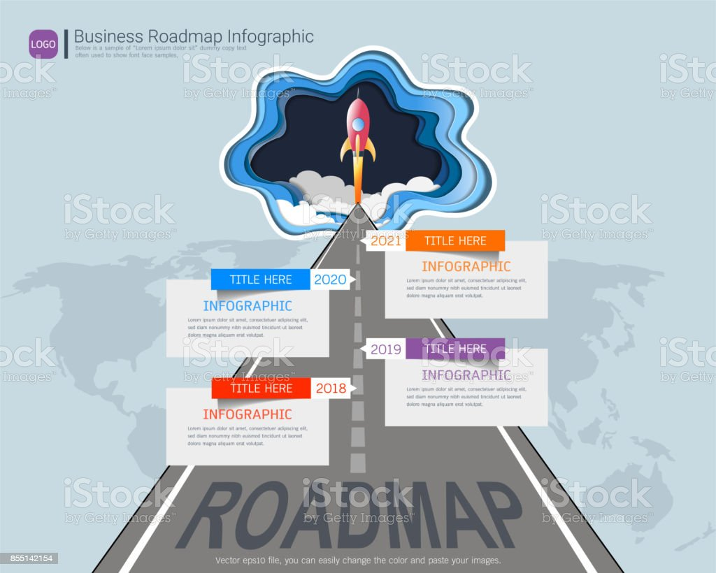 roadmap timeline infographic design template key success and