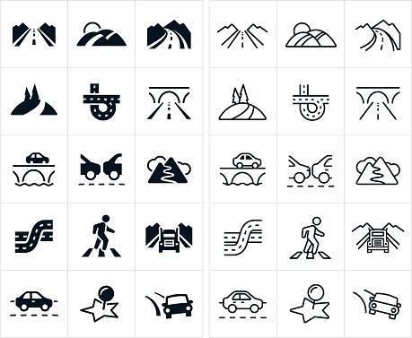 Roads Icons