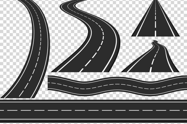 stockillustraties, clipart, cartoons en iconen met roads - weg
