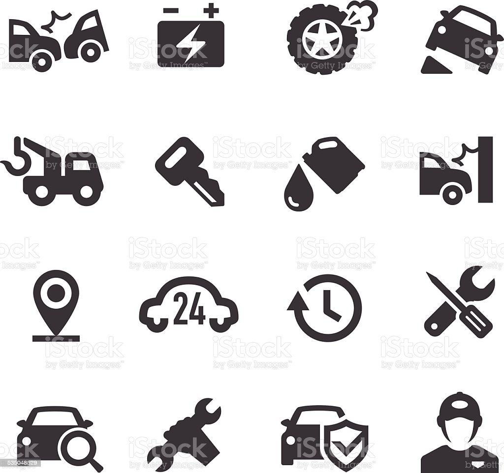 Roadside Services Icons - Acme Series vector art illustration