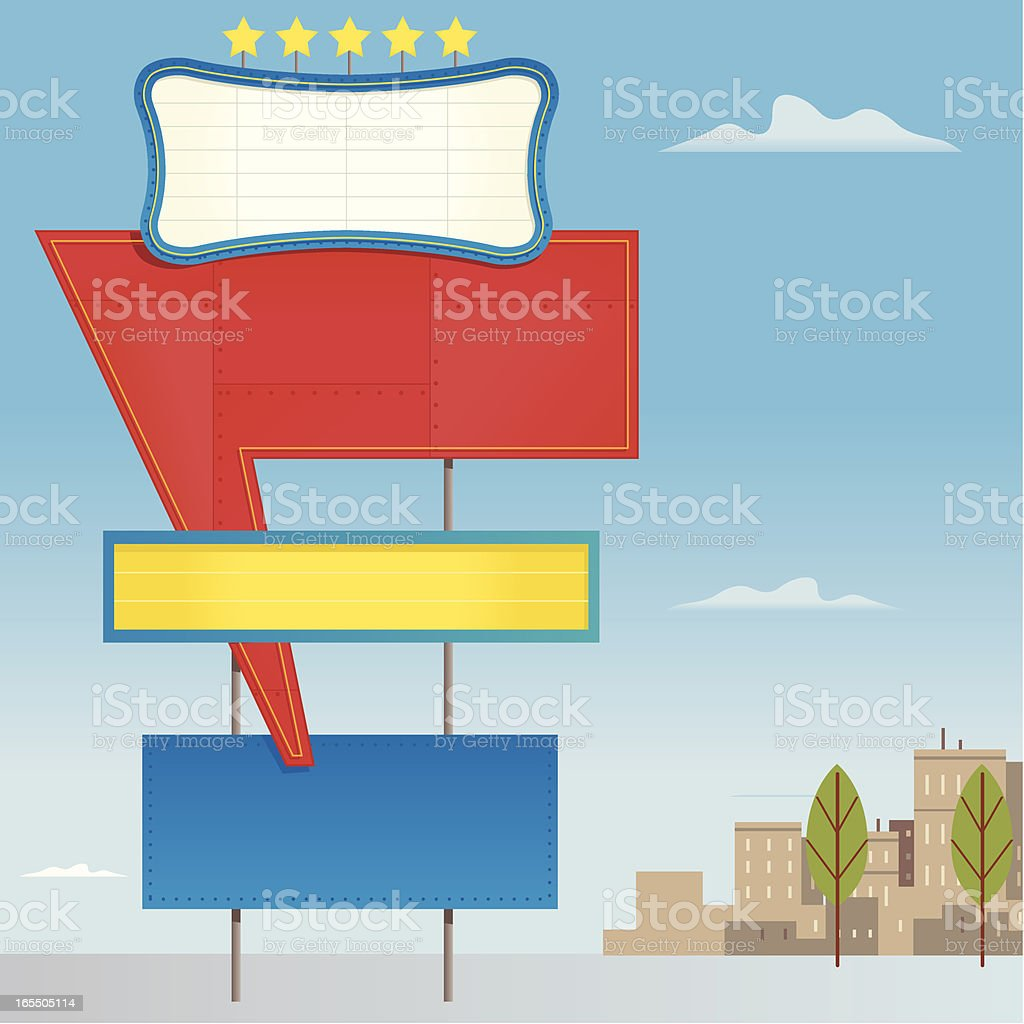 Roadside Sign royalty-free stock vector art