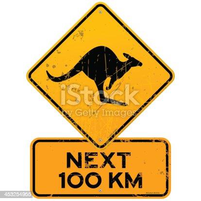 istock Roadsign Kangaroos Next 100 km 453254955