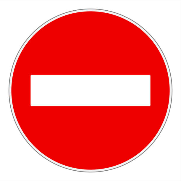 roadsign No entry or Do not enter! traffic sign exclusion stock illustrations