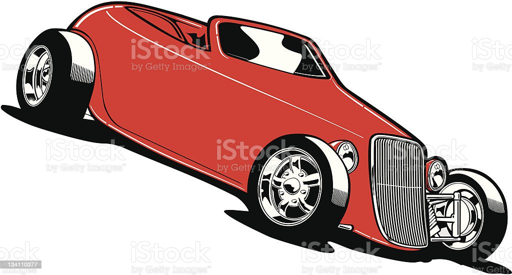 Roadster1 royalty-free stock vector art