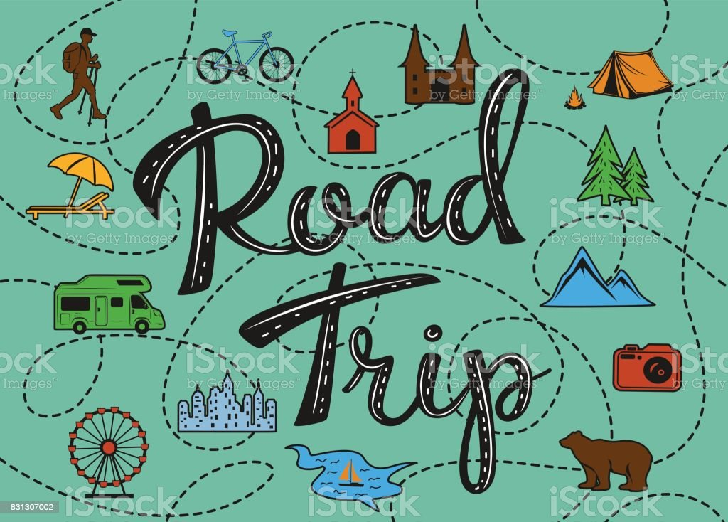 Royalty Free Road Trip Clip Art Vector Images