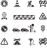 Roadworks icons