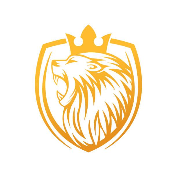 Roaring Lion Logo Vector Design Illustrator. Luxury Roaring Lion Head Logo Design Template. Abstract Lion Crest Logo Vector Design. Lion Logo Vector Design Illustrator. Luxury Roaring Lion Head Logo Design Template. Abstract Lion Crest Logo Vector Design. animal body part stock illustrations