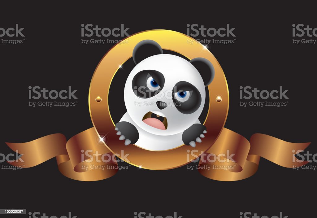 Roaring panda royalty-free stock vector art