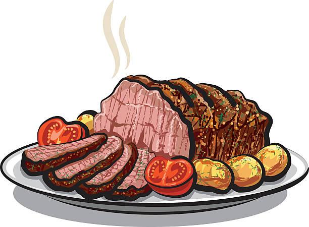 Roast Beef Illustrations, Royalty-Free Vector Graphics ... (612 x 450 Pixel)