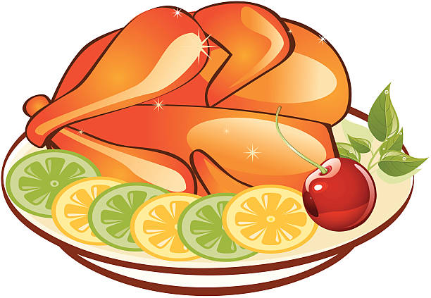Royalty Free Roasted Goose Clip Art, Vector Images ...  Roast Chicken Vector