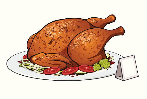 Roast Chicken Illustrations, Royalty-Free Vector Graphics ...