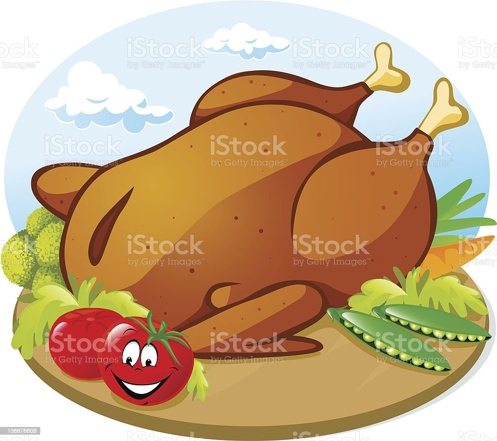 roast chicken with vegetable royalty-free roast chicken with vegetable stock vector art & more images of anthropomorphic smiley face