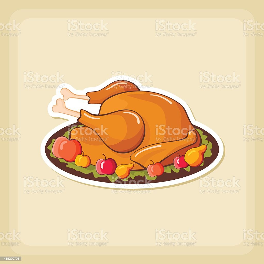 Roasted Chicken Or Turkey Ready For Thanksgiving Royalty Free