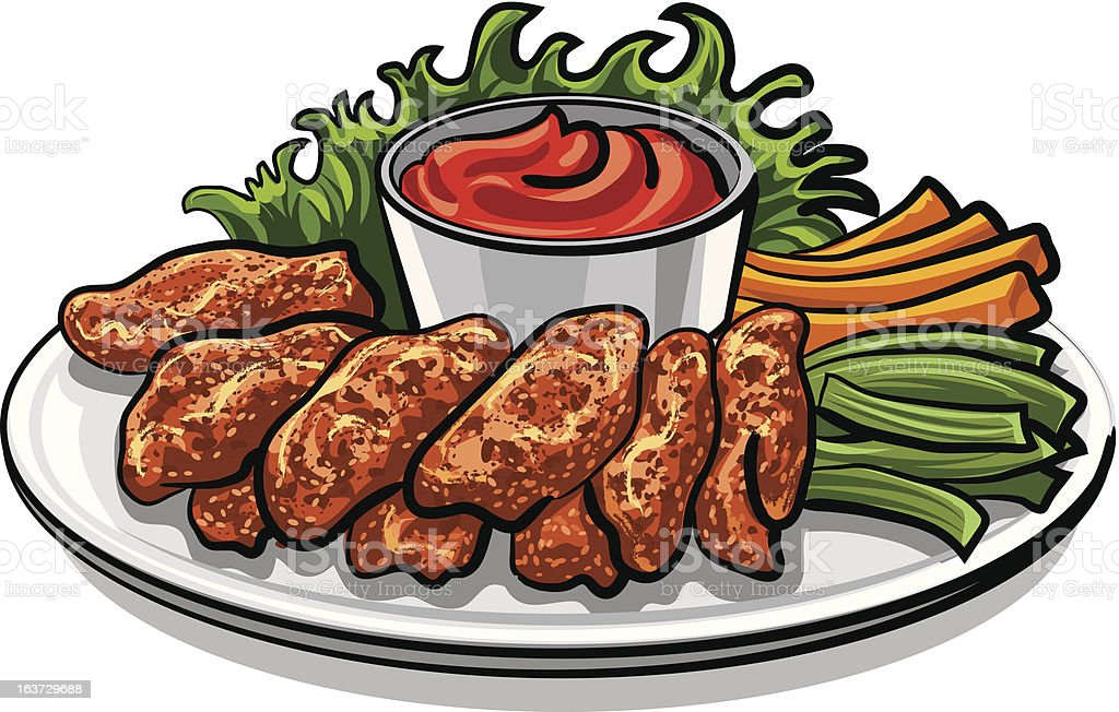 Roasted Chicken Wings Stock Illustration - Download Image ...