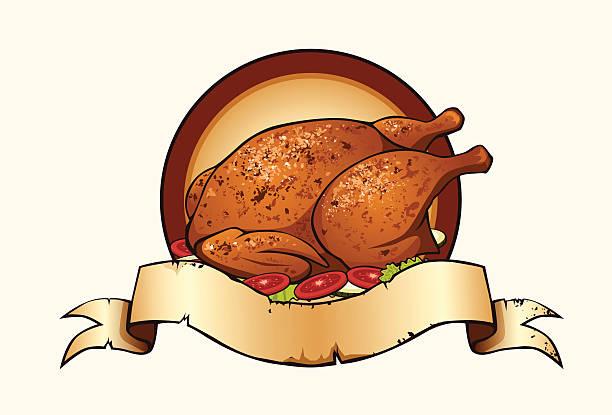 Fried chicken stock vector. Illustration of restaurant ...  Roast Chicken Vector