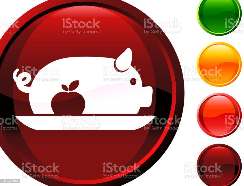Roasted pork internet royalty free vector art royalty-free stock vector art