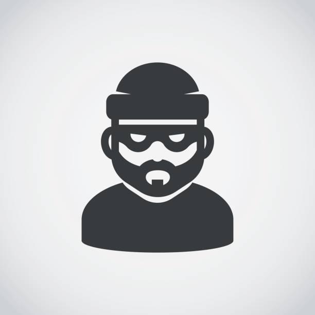Robber icon. Bandit. Robber icon. Bandit. criminal stock illustrations