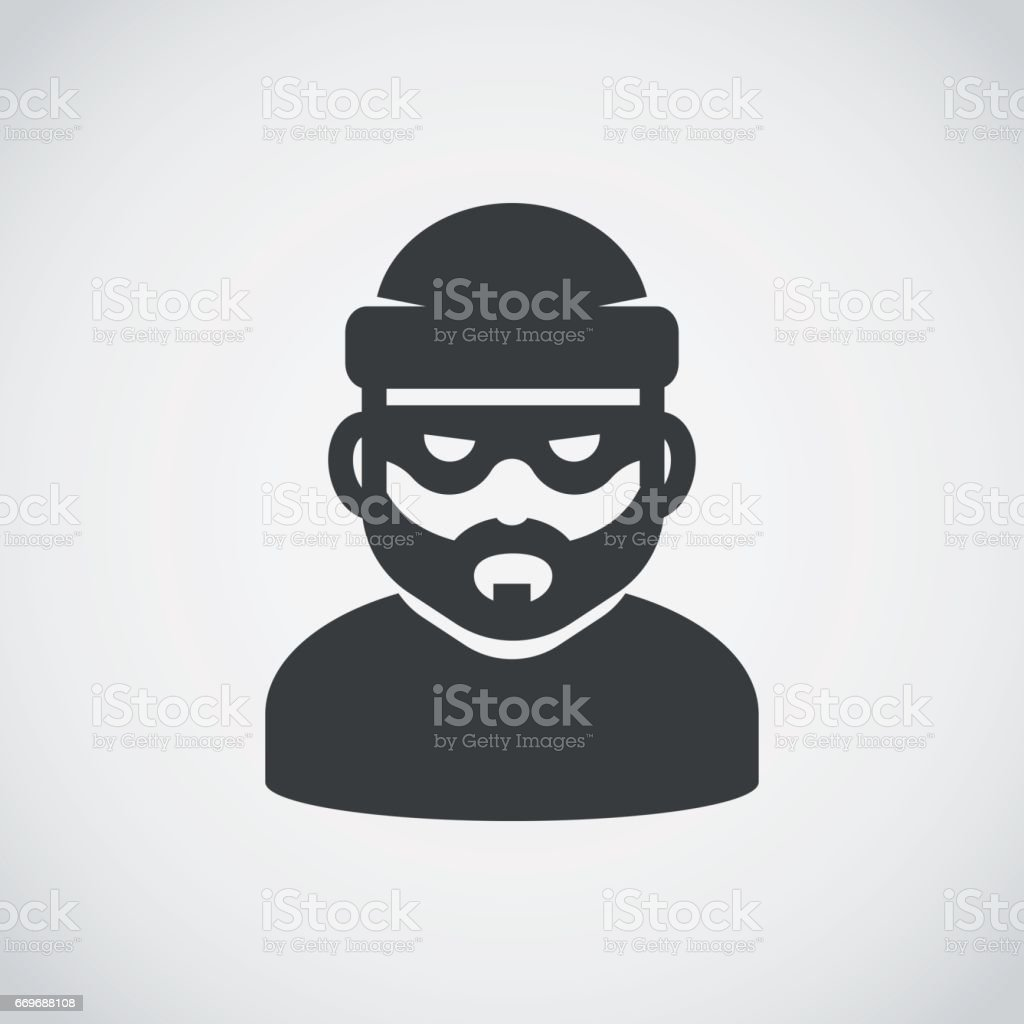 Robber icon. Bandit. vector art illustration