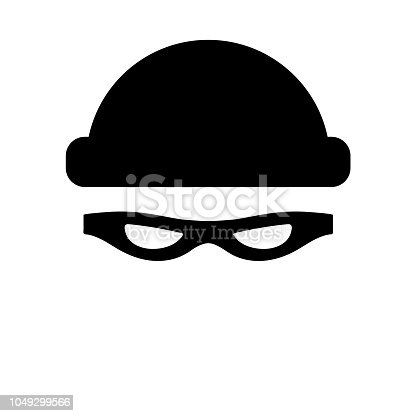 Robber icon on white background