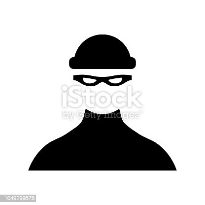 Robber icon on white background