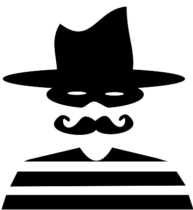 robber with mask