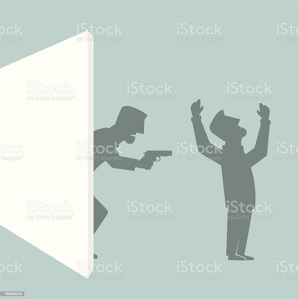 Robbery entering royalty-free stock vector art