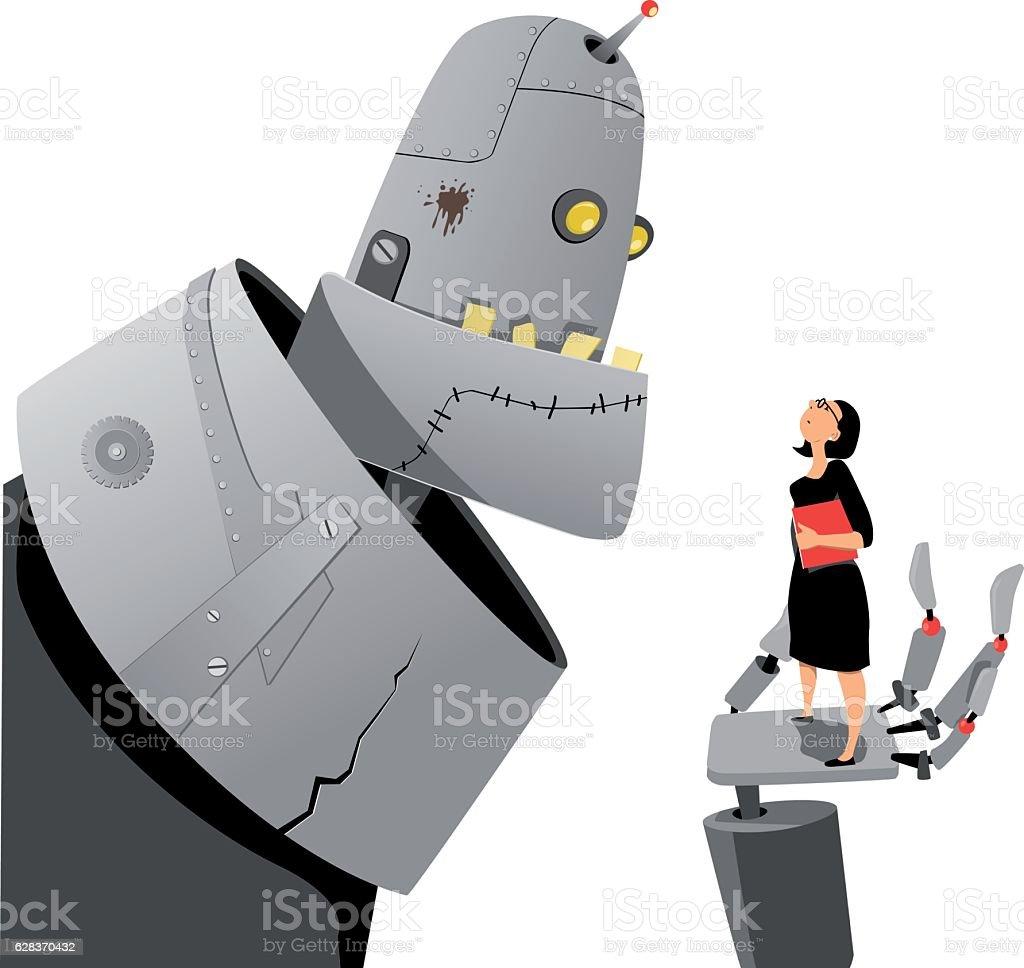 Royalty Free Woman Engineer Robotics Clip Art Vector Images