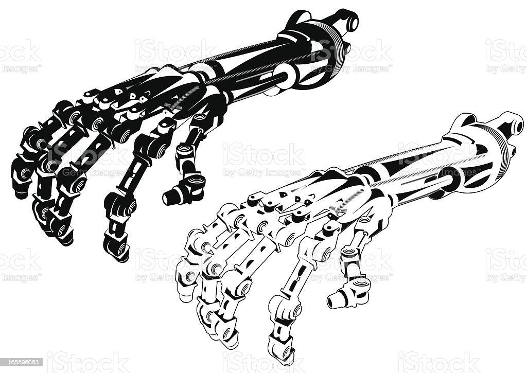 Robô braço II ilustração de robô braço ii e mais banco de imagens de andróide royalty-free