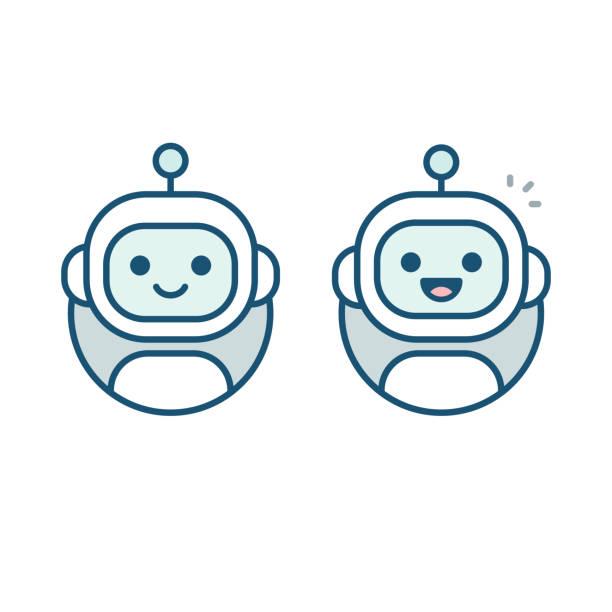 ilustraciones, imágenes clip art, dibujos animados e iconos de stock de icono del avatar de robot - robot