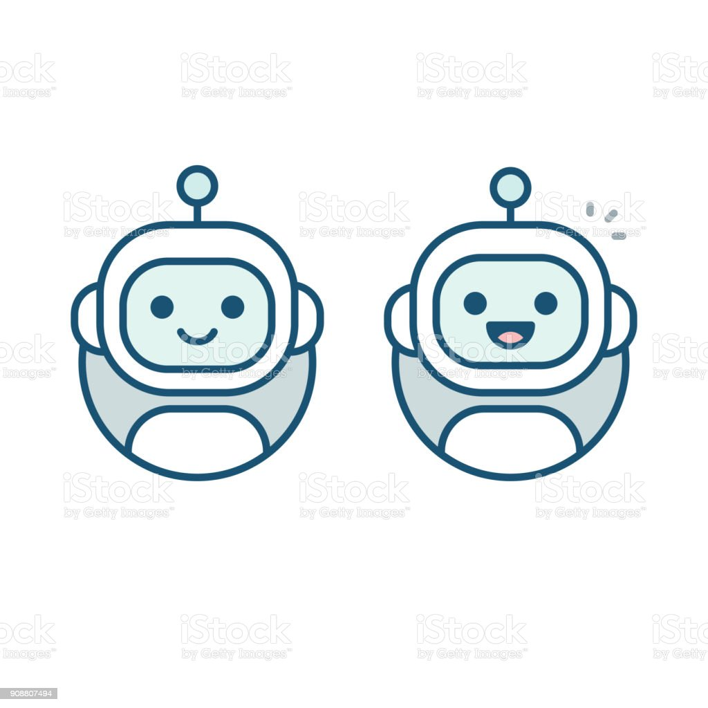 Robot avatar icon vector art illustration