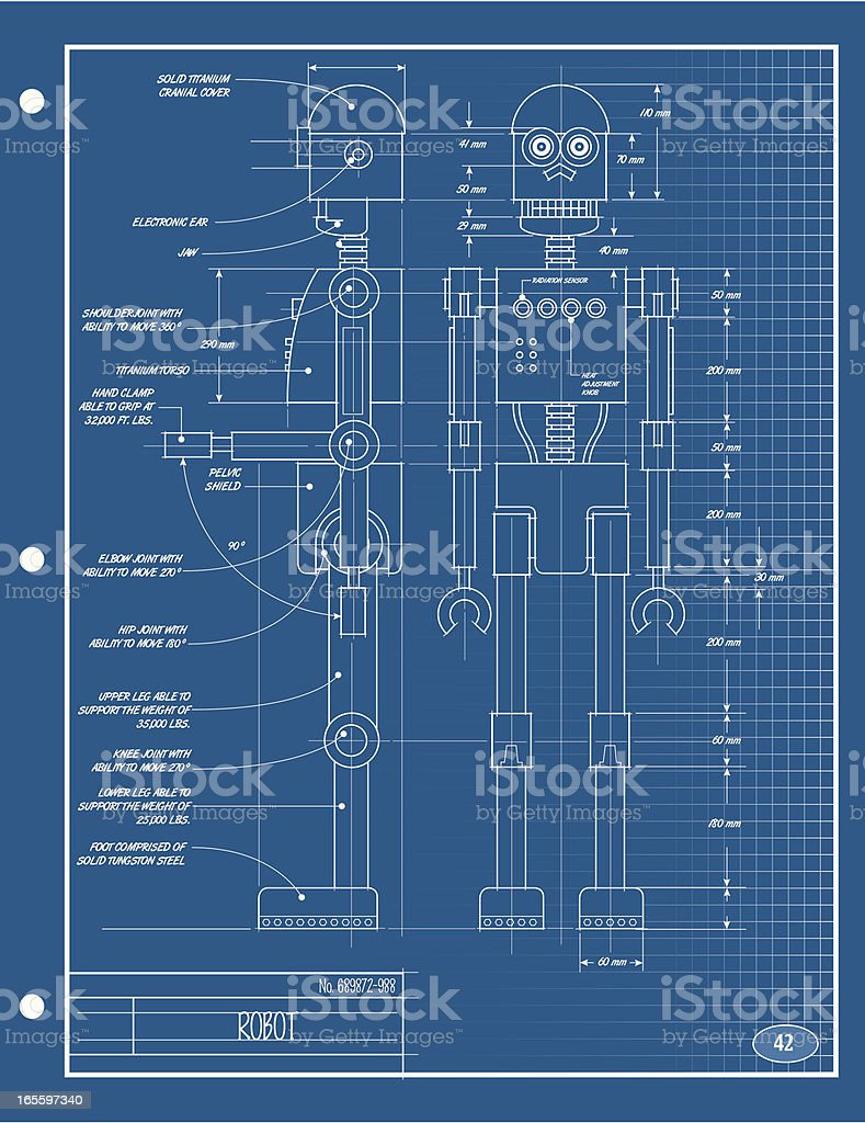 Robot blueprint stock vector art more images of backgrounds robot blueprint royalty free robot blueprint stock vector art amp more images of backgrounds malvernweather Gallery