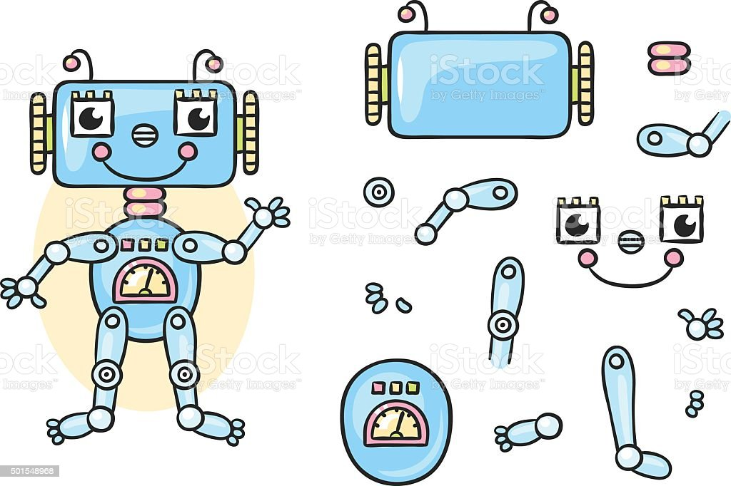 Robot Body Parts Stock Illustration - Download Image Now