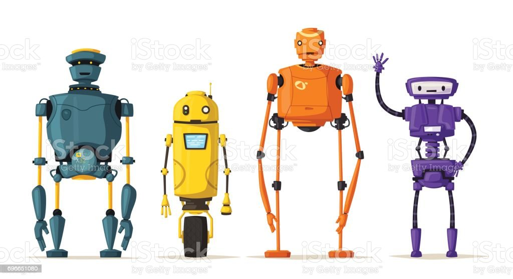 Robot character. Technology, future. Cartoon vector illustration vector art illustration