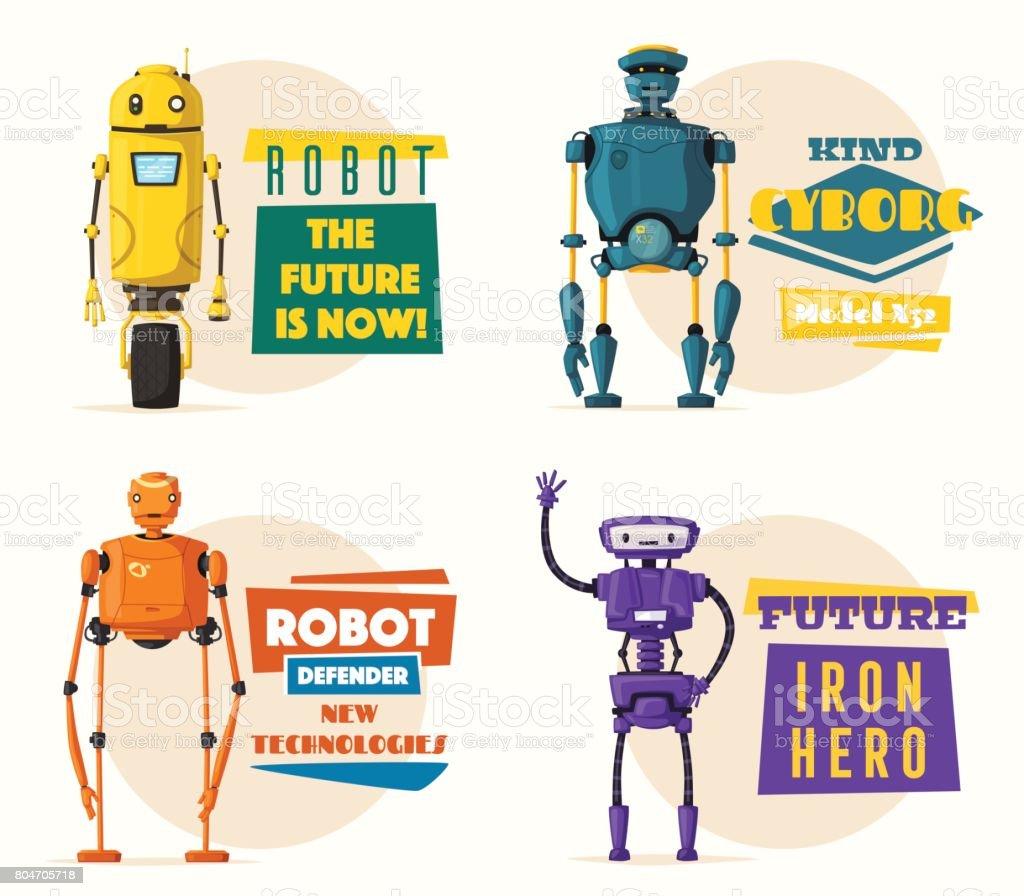 Robot character. Technology, future. Cartoon vector illustration vector art illustration