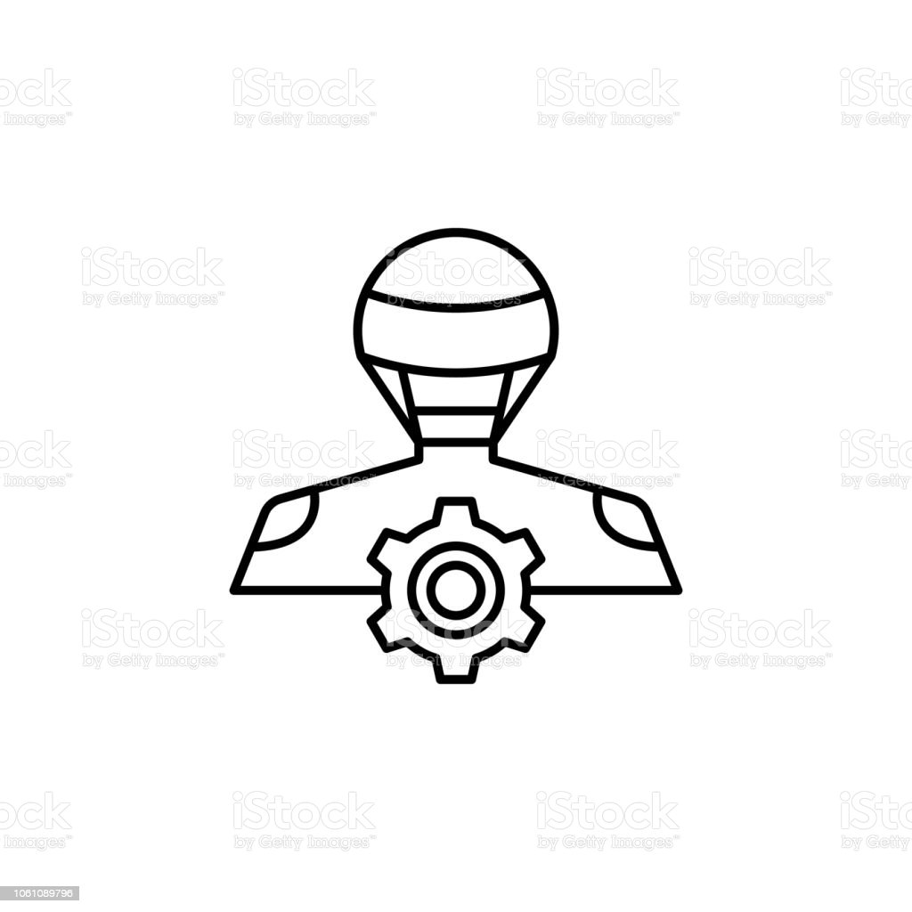 Robot Configuration Icon Element Of Robotics Engineering For Mobile