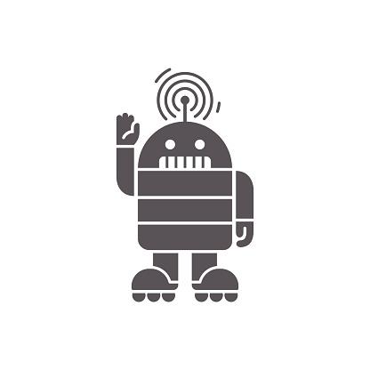 robot greeting flat design