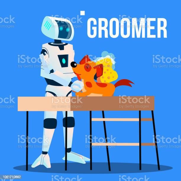 Robot groomer assistant washing pet dog with washcloth vector vector id1061710862?b=1&k=6&m=1061710862&s=612x612&h=qmwq0v clngc8i0rz8zgntq1dszwklvehr7pivyxnyg=