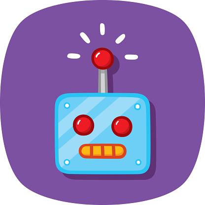 Robot Head Doodle 1