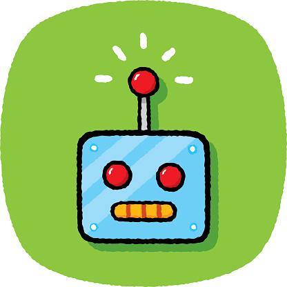 Robot Head Doodle 7