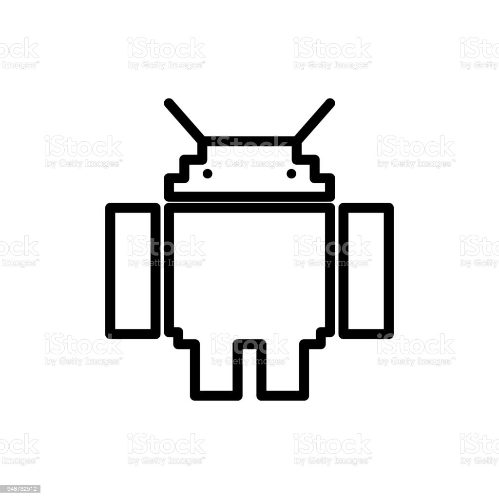 Robot Icon Element Of Minimalistic Icons For Mobile Concept