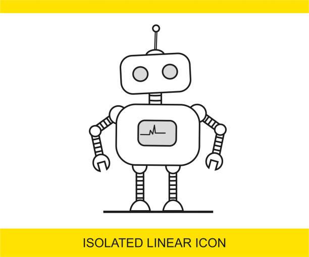 ilustraciones, imágenes clip art, dibujos animados e iconos de stock de icono de robot - robot
