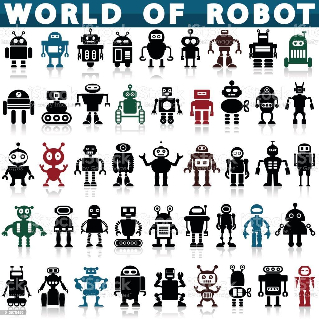 ロボットアイコン ベクターアートイラスト